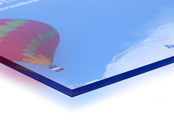 Plattendruck auf Acrylglas-Platte