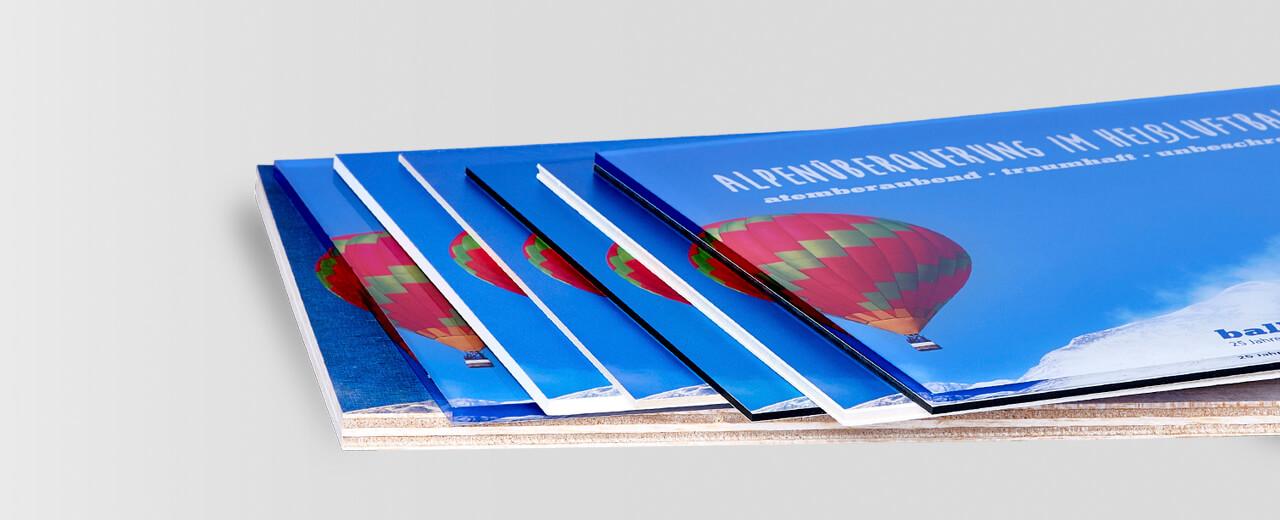 Plattendruck Materialvielfalt