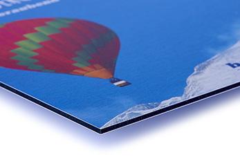 Plattendruck auf Aluminium-Verbundplatte mit Butlerfinish