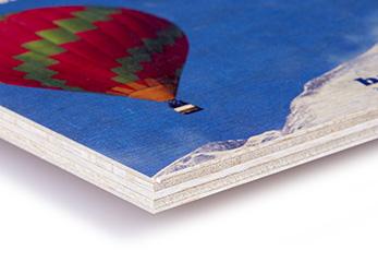 Plattendruck auf Leichtholzplatte